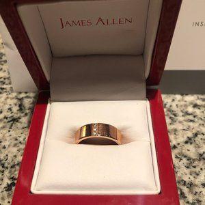James Allen Rose Gold Band Three Diamond